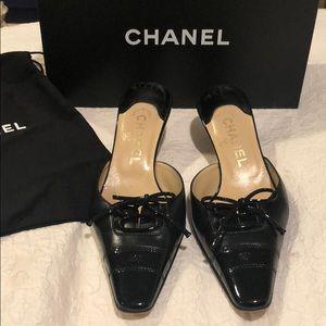 Black Authentic Chanel Mule